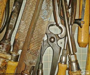 Puzzle de Herramientas de carpintero