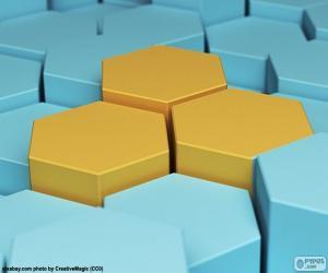 Puzzle de Hexágono, polígono de seis lados