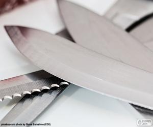Puzzle de Hojas cuchillos de cocina