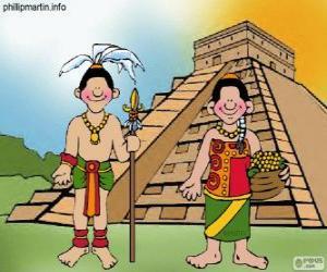 Puzzle de Hombre y mujer maya
