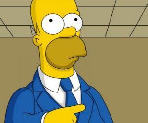 Puzzle de Homero Simpson muy elegante