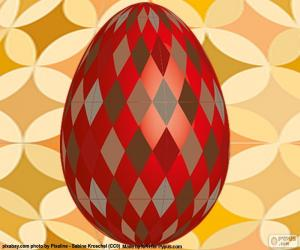 Puzzle de Huevo de Pascua con rombos