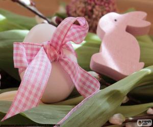 Puzzle de Huevo y conejo de Pascua