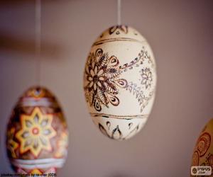 Puzzle de Huevos de Pascua colgados