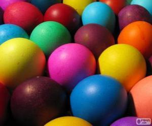 Puzzle de Huevos de Pascua de colores