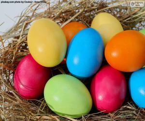 Puzzle de Huevos de Pascua pintados