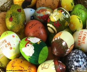 Puzzle de Huevos de Pascua variados