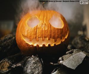 Puzzle de Humeante calabaza de Halloween