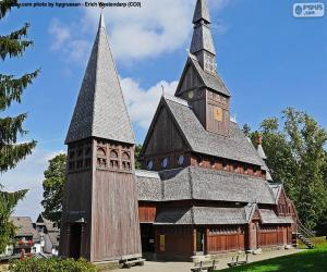Puzzle de Iglesia de madera, Alemania