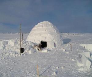 Puzzle de Iglú, casa de nieve en forma de cúpula