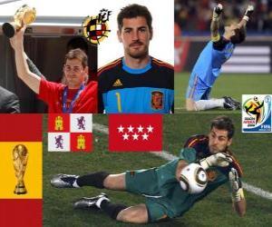 Puzzle de Iker Casillas (el santo de Móstoles) guardameta o portero Selección Española
