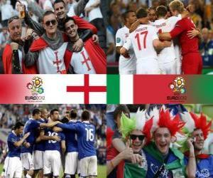Puzzle de Inglaterra - Italia, cuartos de final, Euro 2012