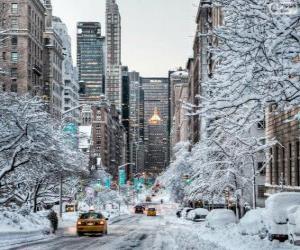 Puzzle de Invierno en Nueva York