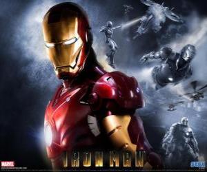 Puzzle de Iron Man u Hombre de Hierro posee una armadura muy poderosa que le permite volar, le da una fuerza sobrehumana y que dispone de armas especiales