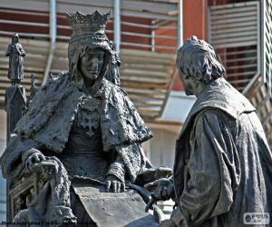 Puzzle de Isabel la Católica y Colón