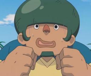 Puzzle de Jack Wallside o Heigoro Kabeyama es el gran y tímido defensor del Raimon Eleven
