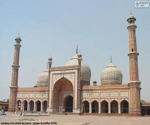 Puzzle de Jama Masjid, India