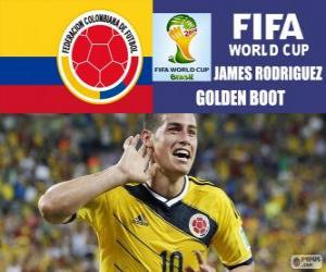 Puzzle de James Rodriguez, Bota de Oro. Mundial de Fútbol Brasil 2014