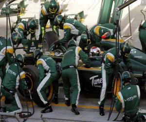 Puzzle de Jarno Trulli - Lotus - Bahrain 2010