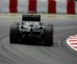 Puzzle de Jarno Trulli - Lotus - Barcelona 2010