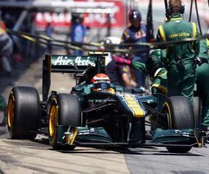 Puzzle de Jarno Trulli - Lotus - Barcelona 2011