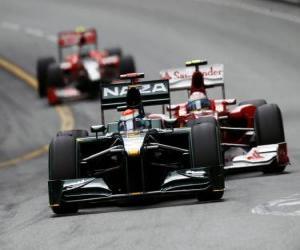 Puzzle de Jarno Trulli - Lotus - Monte-Carlo 2010
