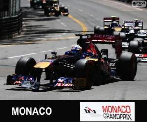 Puzzle de Jean-Eric Vergne - Toro Rosso - Montecarlo 2013