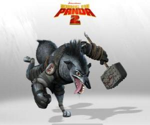 Puzzle de Jefe Lobo, el sirviente más leal de Shen, un gran estratega militar y su fiel pata derecha
