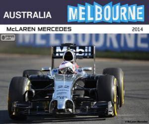 Puzzle de Jenson Button - McLaren - Gran Premio de Australia 2014, 3er Clasificado