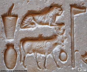 Puzzle de Jeroglíficos esculpidos