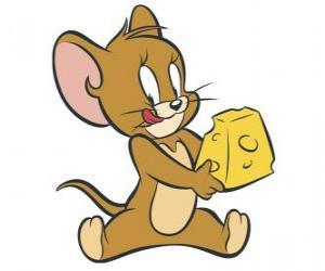 Puzzle de Jerry comiendo un delicioso trozo de queso