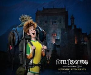 Puzzle de Jonathan, el joven viajero que llega hasta el Hotel