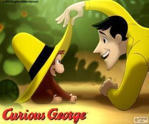 Puzzle de Jorge el curioso y Ted, el hombre del sombrero amarillo