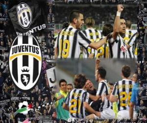 Puzzle de Joventus, campeón Liga Italiana de Fútbol - Lega Calcio 2011-12