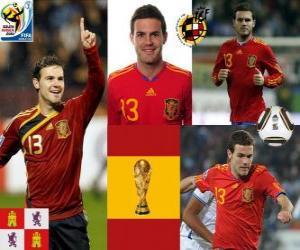 Puzzle de Juan Mata (El tobillo mágico) delantero Selección Española