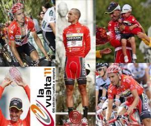 Puzzle de Juanjo Cobo (GEOX) campeón, de la Vuelta a España 2011