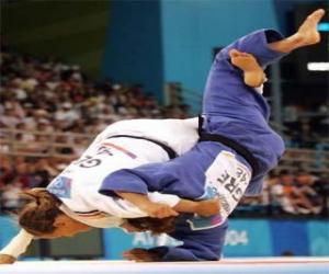 Puzzle de Judo - Dos judokas practicando