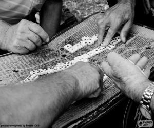 Puzzle de Jugando al dominó