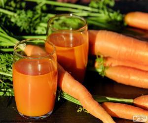 Puzzle de Jugo o zumo de zanahoria