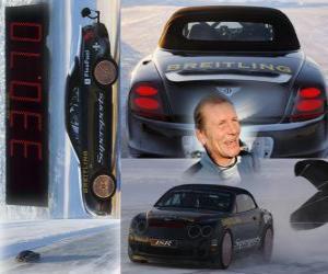 Puzzle de Juha Kankkunen, récord de velocidad sobre hielo