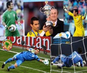 Puzzle de Justo Villar mejor portero Copa América 2011