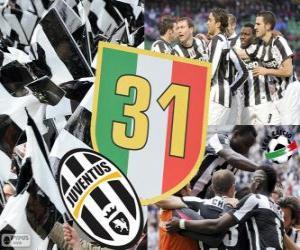 Puzzle de Juventus Turín, campeón Serie A Lega Calcio 2012-2013, liga italiana de fútbol
