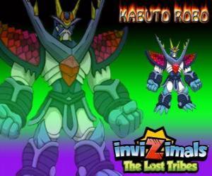 Puzzle de Kabuto Robo. Invizimals Las Tribus Perdidas. Invizimal entrenado para proteger los secretos de Kenichi