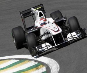 Puzzle de Kamui Kobayashi - Sauber - Interlagos 2010
