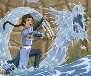 Puzzle de Katara es una poderosa maestra - agua que acompaña a Aang junto con su hermano Sokka
