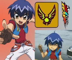 Puzzle de Kazuya Daidoh es el personaje principal de Scan2Go y quiere convertirse en el piloto mas rápido en el espacio