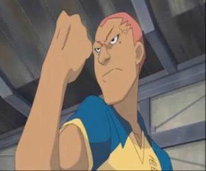 Puzzle de Kevin Dragonfly o Ryugo Someoka, el malhumorado delantero del equipo de futbol de Raimon