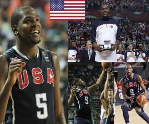 Puzzle de Kevin Durant jugador más valioso del Campeonato Mundial FIBA 2010