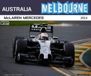 Puzzle de Kevin Magnussen - McLaren - Gran Premio de Australia 2014, 2º Clasificado