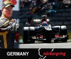 Puzzle de Kimi Räikkönen - Lotus - Gran Premio Alemania 2013, 2º Clasificado